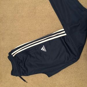 Navy Blue & White Adidas Climacool Track Joggers